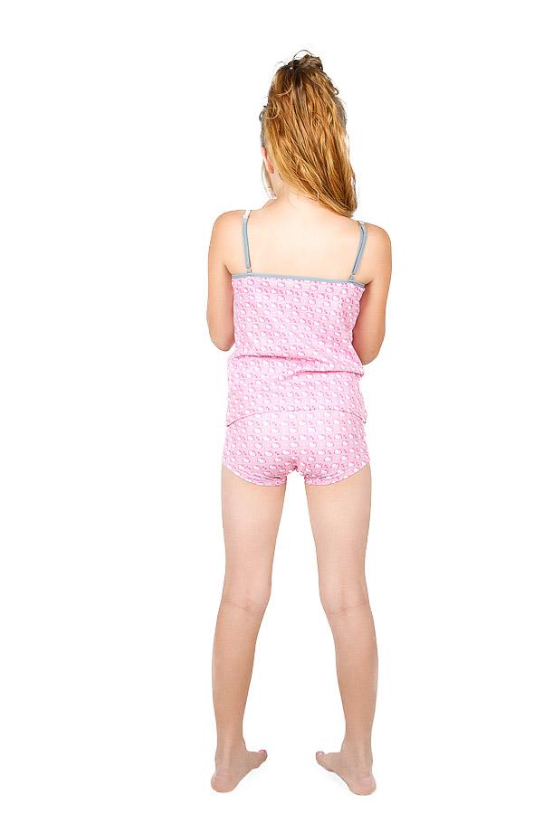 """Изображение Комплект для девочки (трусы + майка) """"Hello Kitty"""", розовый"""