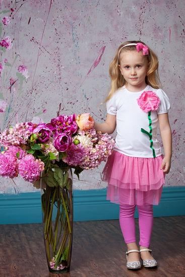 Изображение Леггинсы с юбочкой (розовые)