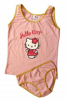 """Изображение Комплект (майка и трусы) """"Hello Kitty"""" (розовый)"""