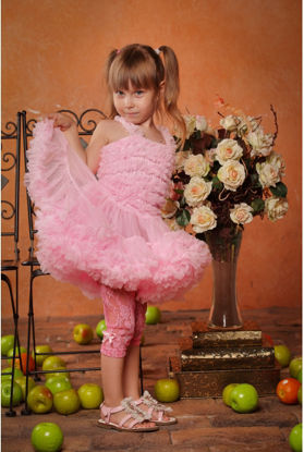 Изображение Леггинсы ажурные (розовые)