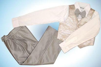 Изображение Элегантный комплект для мальчика (4 предмета, серебро)