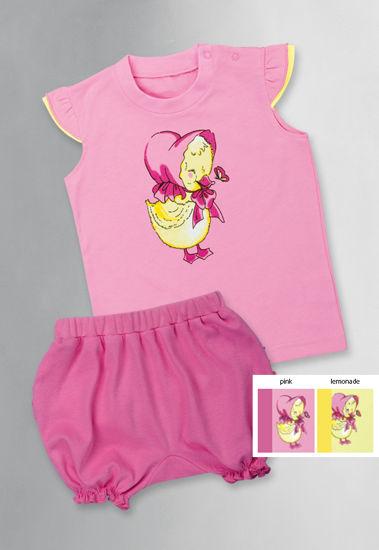 """Изображение Комплект для девочки """"Любимая уточка"""" (футболка и шорты)"""