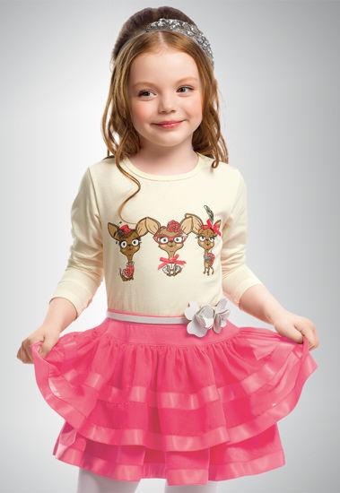 """Изображение Комплект для девочки """"Счастливые собачки"""" (молочно-розовый)"""