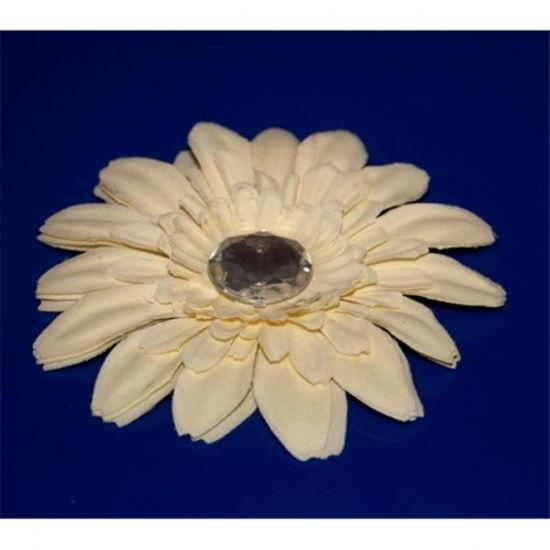 Изображение Заколка - цветок для волос (белая ромашка)