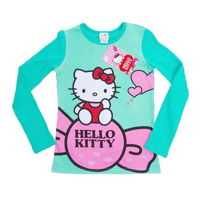 """Изображение Кофта """"Hello Kitty черника"""", бирюзовая"""