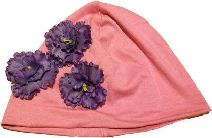Изображение Шапочка с цветком (малиновая)