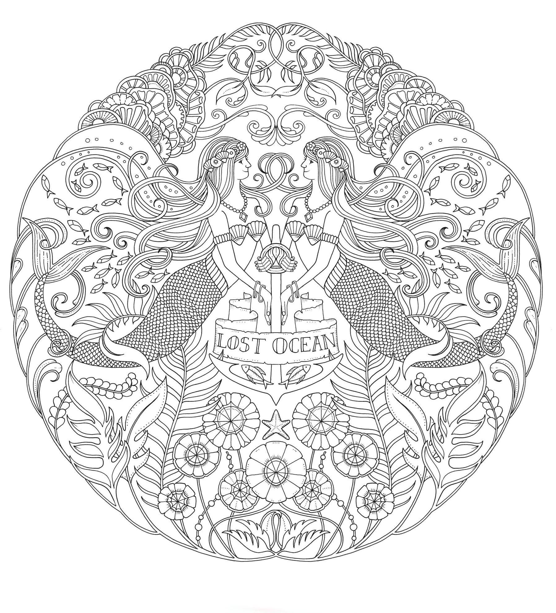 Изображение Затерянный океан. Книга для творчества и вдохновения, Издательство КоЛибри