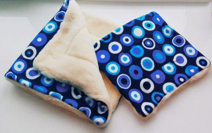 Изображение Woollamb Комплект в коляску голубой