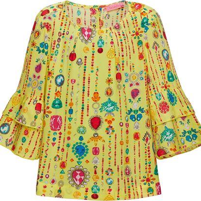 Изображение Блузка для девочки, цвет лимонный