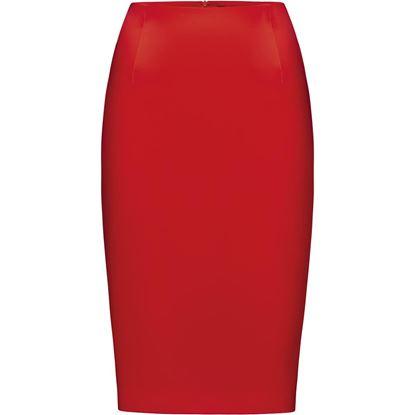 Изображение Атласная юбка, цвет красный