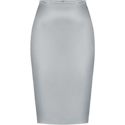 Изображение Атласная юбка, цвет серый