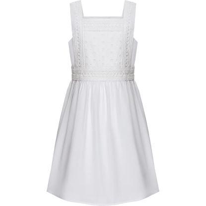 Изображение Платье с кружевом для девочки, цвет белый
