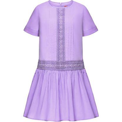 Изображение Платье с кружевом для девочки, цвет сиреневый