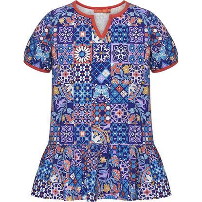 Изображение Трикотажная туника для девочки, цвет мультиколор
