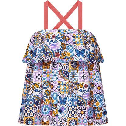 Изображение Топ на бретелях для девочки, цвет мультиколор