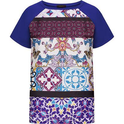 Изображение Трикотажная блузка, цвет темно-сиреневый