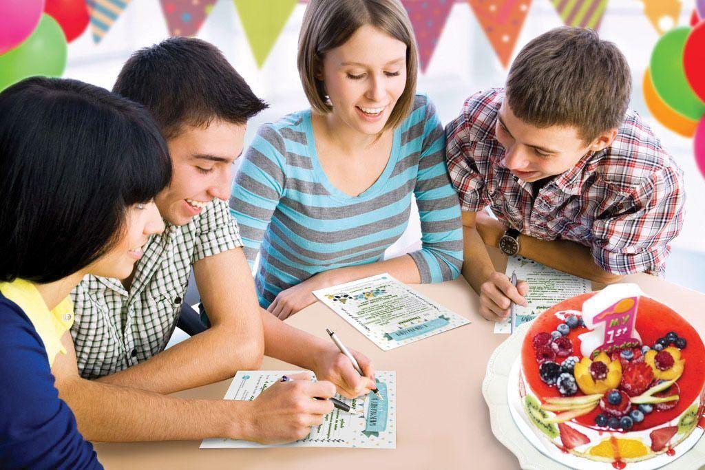 """Изображение Cute'n Clever Набор карточек """"Мои пожелания в  День Рождения.  Акварельное настроение"""""""