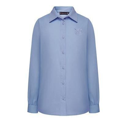 Изображение Блузка для девочки, цвет голубой