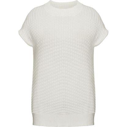 Изображение Ажурный вязаный джемпер, цвет белый