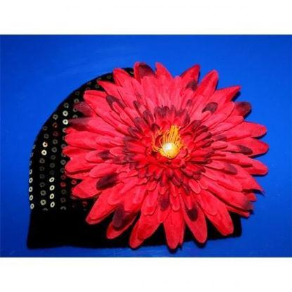 Изображение Осенняя шапочка с красным георгином Lux