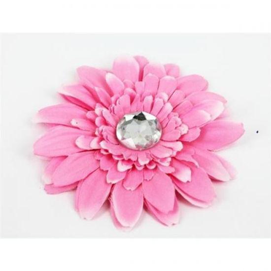 Изображение Заколка - цветок для волос (розовая ромашка)