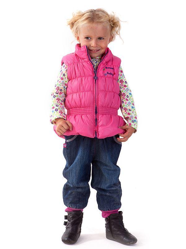 Изображение Жилет на синтепоне для девочки (ярко-розовый)