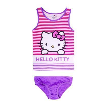 "Изображение Комплект (майка и трусы) ""Hello Kitty Весна"" (сиреневый)"
