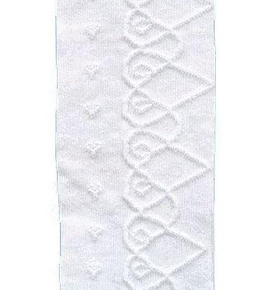 Изображение Колготки ажурные однотонные (116-122, белые)