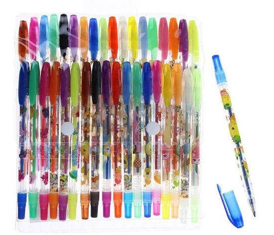 Изображение Набор гелевых ручек 36 цветов с блестками