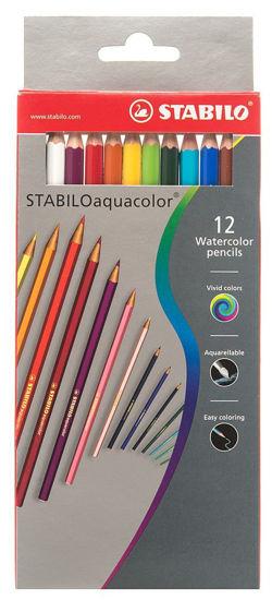 Изображение Акварельные карандаши 12 цветов Stabilo