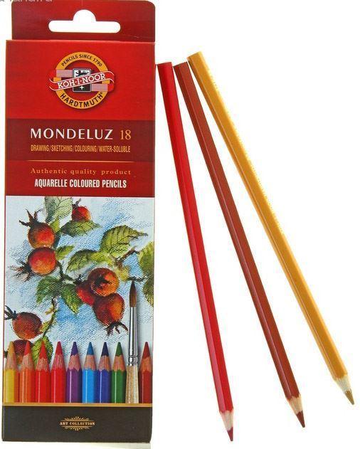 Изображение Акварельные карандаши 18 цветов Mondeluz