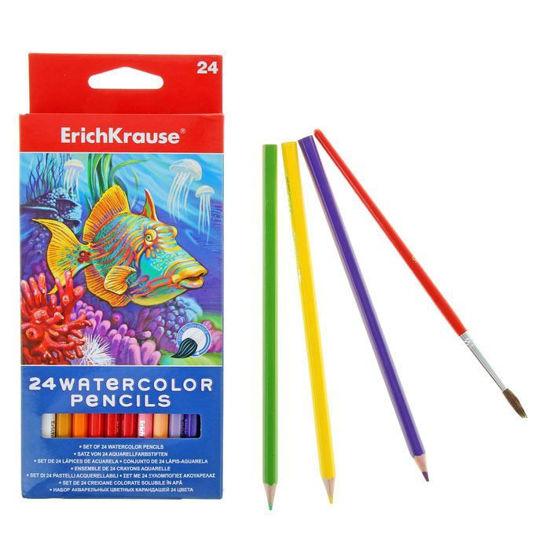 Изображение Акварельные карандаши 24 цвета ErichKrauze