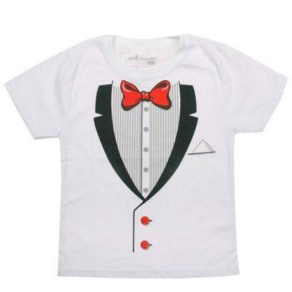 """Изображение Нарядная футболка для мальчика """"Джентельмен"""""""