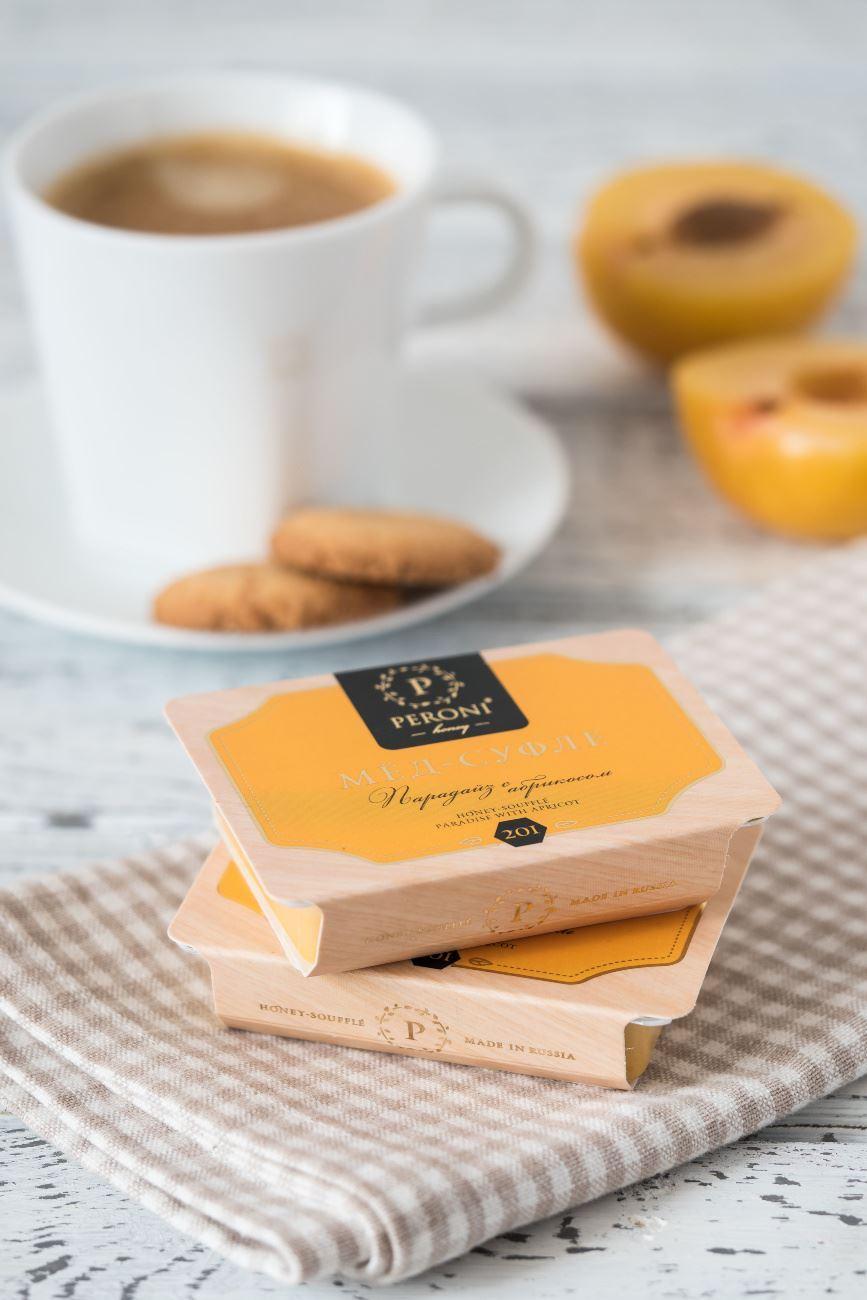 Изображение Peroni Мёд-суфле MINI Парадайз с абрикосом в картонной обечайке, 2х25мл