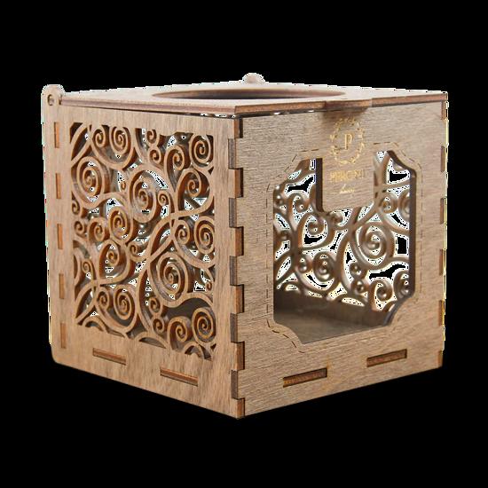 Изображение Коробка-подсвечник на 1 банку Peroni (деревянная)