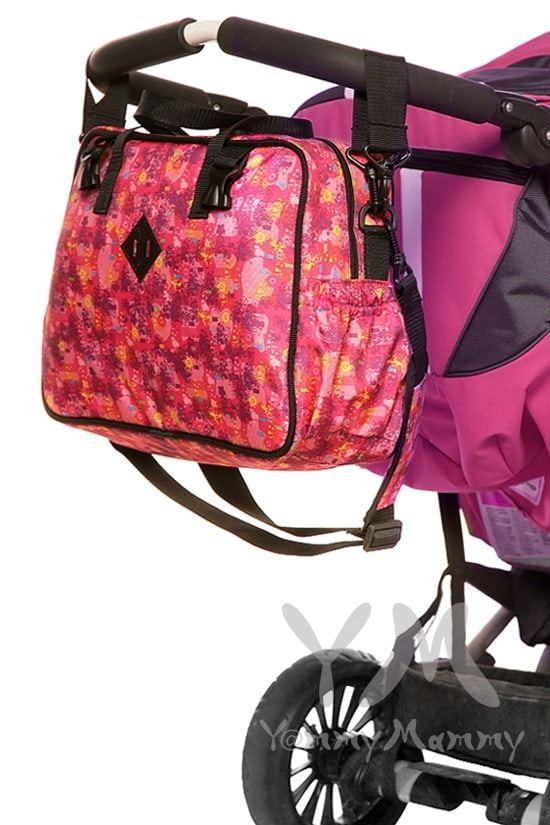 Изображение                               Сумка Double bag (2 в 1) розовая с принтом