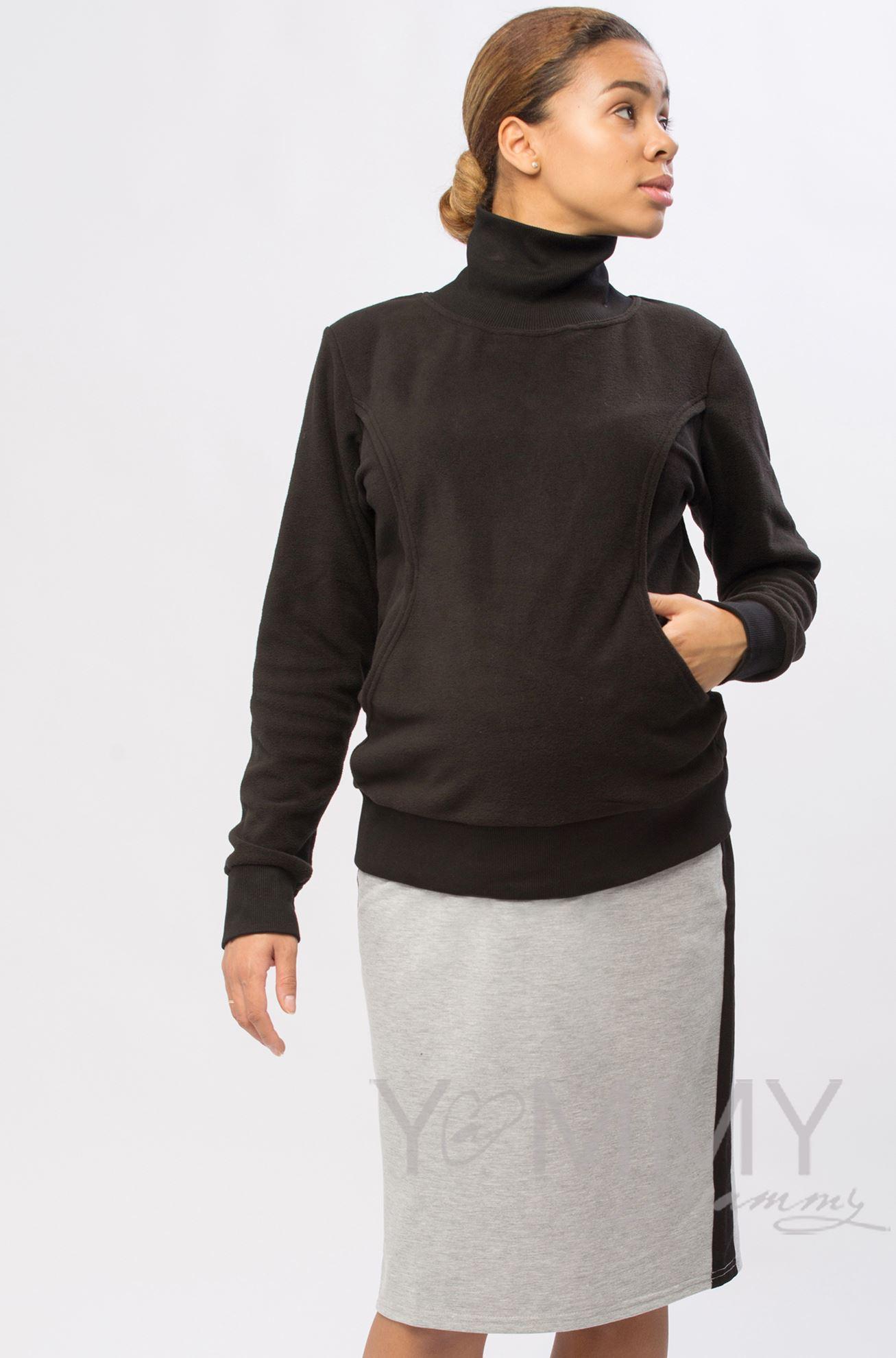 Изображение                               Юбка-карандаш универсальная серый меланж/черный