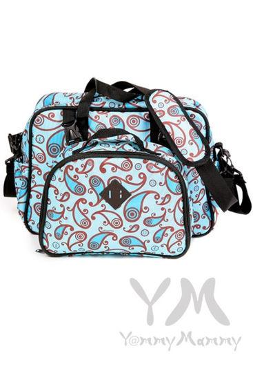 Изображение                               Сумка Double bag (2 в 1) голубая с принтом