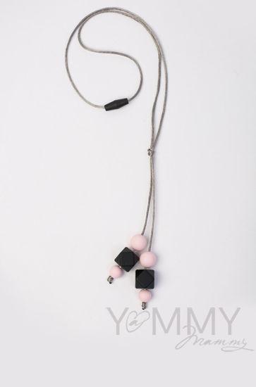 Изображение                               Слингобусы-подвеска с розово-черной гамме