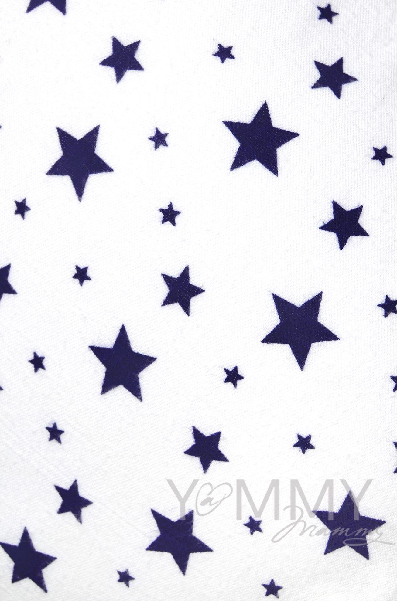 Изображение                               Наволочка фланелевая белая с синими звездами для маминой подушки