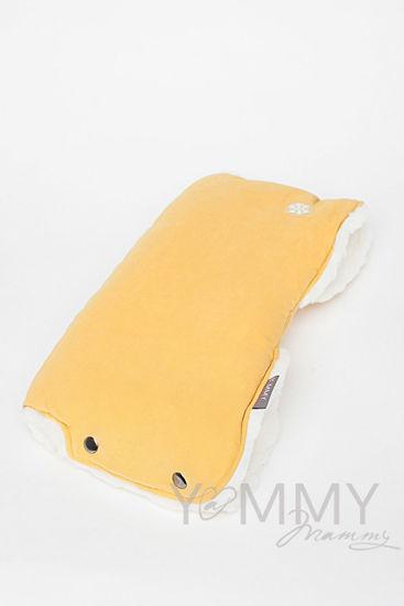Изображение                               Муфта на коляску mustard с молочным мехом