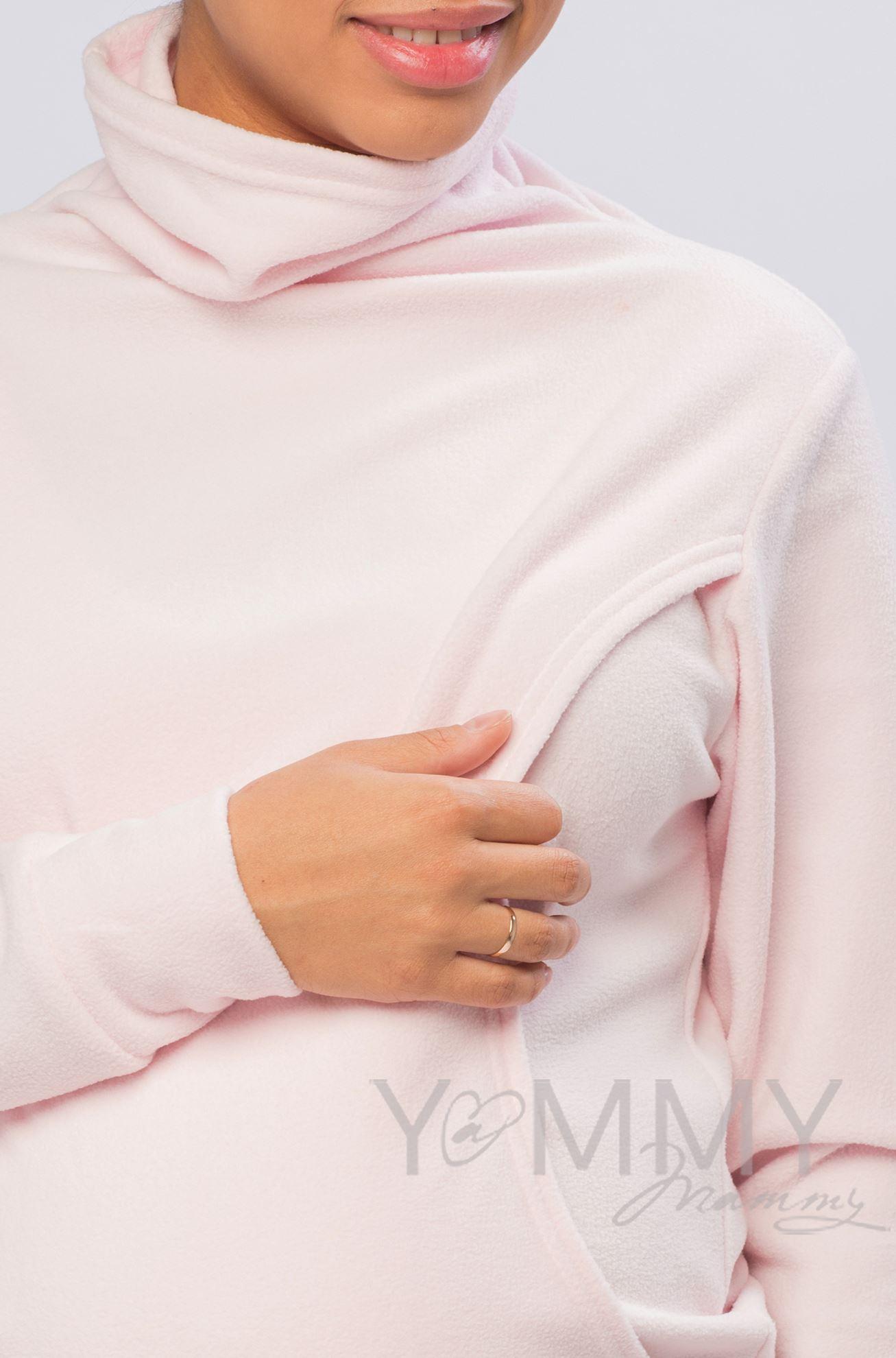 Изображение                               Толстовка флисовая светло-розовая