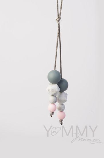 Изображение                               Слингобусы-подвеска в розово-серой гамме