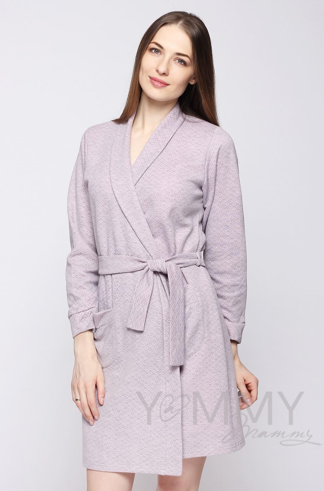 Изображение                               Комплект халат с сорочкой розовый