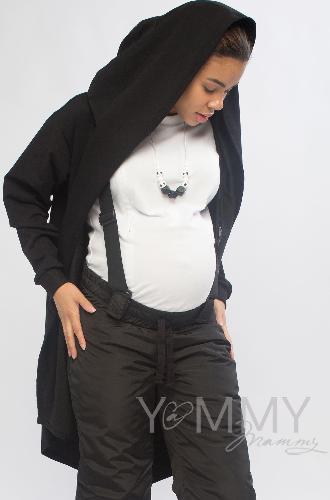 Изображение                               Кардиган с капюшоном чёрный