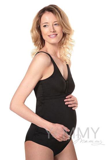 Изображение                               Купальник слитный для беременных и кормящих мамочек Мариан черный