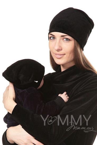 Изображение                               Велюровая шапочка черная
