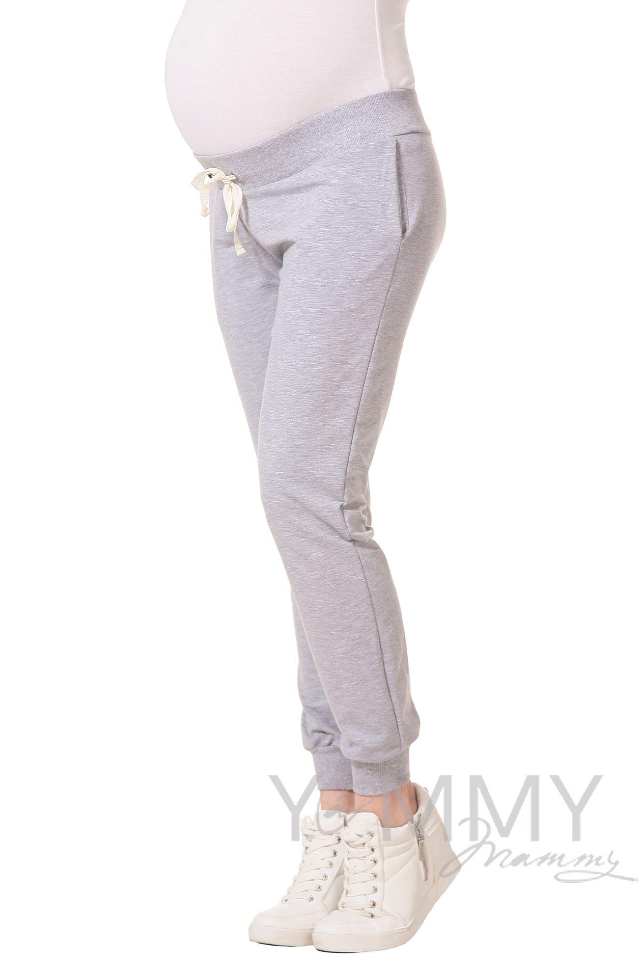 Изображение                               Универсальные спортивные брюки из футера серый меланж