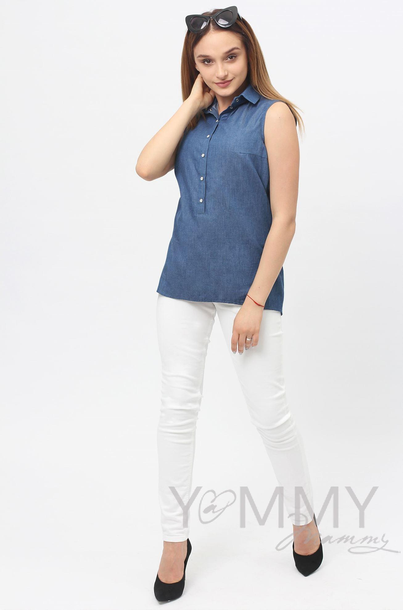 Изображение                               Туника джинсовая с кружевом