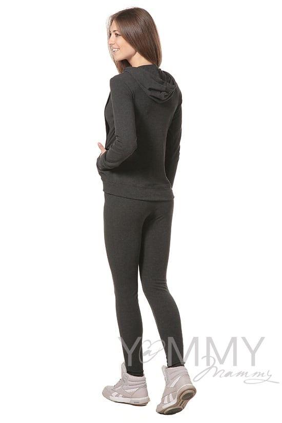 Изображение                               Леггинсы утепленные с начесом темно-серый меланж